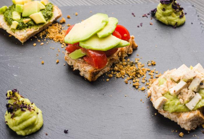 tris di avocado toast