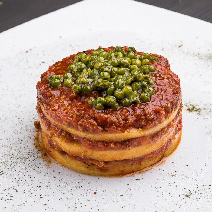 lasagnetta di polenta al ragù bolognese