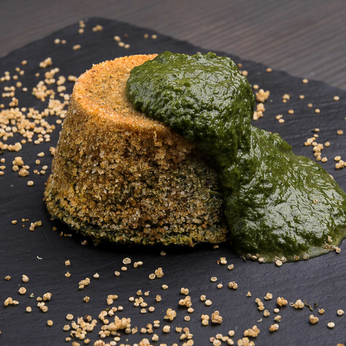 sformatino di quinoa e spinaci